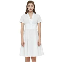 Short Sleeve Waist Detail Dress