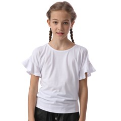 Kids  Cut Out Flutter Sleeves
