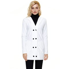 Button Up Hooded Coat