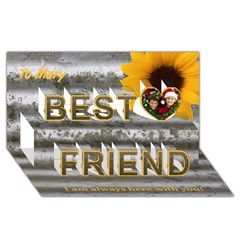 Best Friends 3D Greeting Card (8x4)