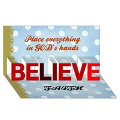 BELIEVE 3D Greeting Card (8x4)