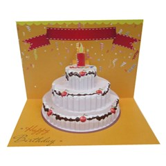 Birthday Cake 3D Greeting Card (7x5)
