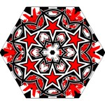 Star Checkerboard Splatter Mini Folding Umbrella
