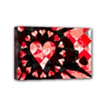 Love Heart Splatter Mini Canvas 6  x 4  (Stretched)
