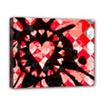 Love Heart Splatter Canvas 10  x 8  (Stretched)