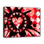 Love Heart Splatter Canvas 14  x 11  (Stretched)