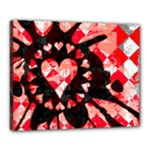 Love Heart Splatter Canvas 20  x 16  (Stretched)