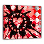 Love Heart Splatter Canvas 24  x 20  (Stretched)