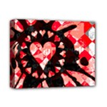 Love Heart Splatter Deluxe Canvas 14  x 11  (Stretched)