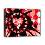 Love Heart Splatter Deluxe Canvas 16  x 12  (Stretched)