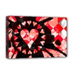 Love Heart Splatter Deluxe Canvas 18  x 12  (Stretched)