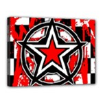 Star Checkerboard Splatter Canvas 16  x 12  (Stretched)