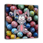 Easter Egg Bunny Treasure Mini Canvas 8  x 8  (Framed)