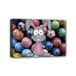 Easter Egg Bunny Treasure Mini Canvas 6  x 4  (Framed)