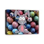 Easter Egg Bunny Treasure Mini Canvas 7  x 5  (Framed)