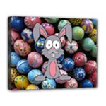 Easter Egg Bunny Treasure Canvas 14  x 11  (Framed)