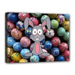 Easter Egg Bunny Treasure Canvas 16  x 12  (Framed)