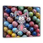 Easter Egg Bunny Treasure Canvas 20  x 16  (Framed)