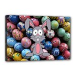 Easter Egg Bunny Treasure Canvas 18  x 12  (Framed)