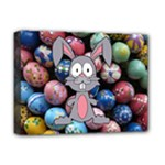 Easter Egg Bunny Treasure Deluxe Canvas 16  x 12  (Framed)