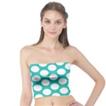 Turquoise Polkadot Pattern Tube Top