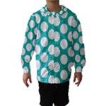 Turquoise Polkadot Pattern Hooded Wind Breaker (Kids)