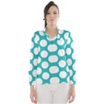 Turquoise Polkadot Pattern Wind Breaker (Women)