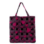 Harts pattern Grocery Tote Bag