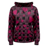 Harts pattern Women s Pullover Hoodie