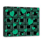 Green love Deluxe Canvas 20  x 16
