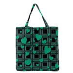 Green love Grocery Tote Bag