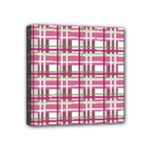 Pink plaid pattern Mini Canvas 4  x 4