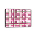 Pink plaid pattern Mini Canvas 6  x 4