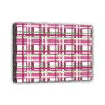 Pink plaid pattern Mini Canvas 7  x 5