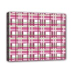 Pink plaid pattern Canvas 10  x 8