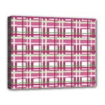 Pink plaid pattern Canvas 14  x 11