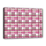 Pink plaid pattern Canvas 16  x 12