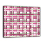 Pink plaid pattern Canvas 20  x 16