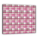 Pink plaid pattern Canvas 24  x 20