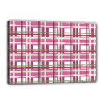 Pink plaid pattern Canvas 18  x 12