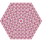 Pink plaid pattern Mini Folding Umbrellas