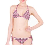 Pink plaid pattern Bikini Set