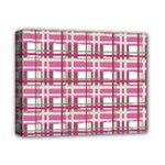 Pink plaid pattern Deluxe Canvas 14  x 11