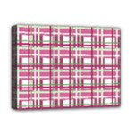 Pink plaid pattern Deluxe Canvas 16  x 12