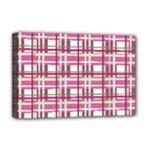 Pink plaid pattern Deluxe Canvas 18  x 12