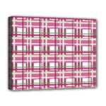 Pink plaid pattern Deluxe Canvas 20  x 16