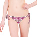 Pink plaid pattern Bikini Bottom