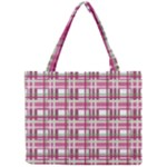 Pink plaid pattern Mini Tote Bag