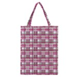 Pink plaid pattern Classic Tote Bag