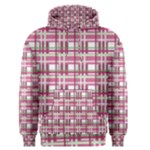 Pink plaid pattern Men s Pullover Hoodie